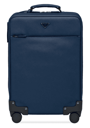 Prada Saffiano leather wheeled carry-on - Blue