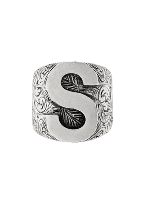 Gucci S letter ring - Silver