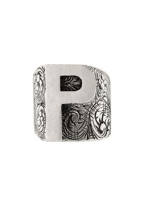 Gucci P letter ring - Silver