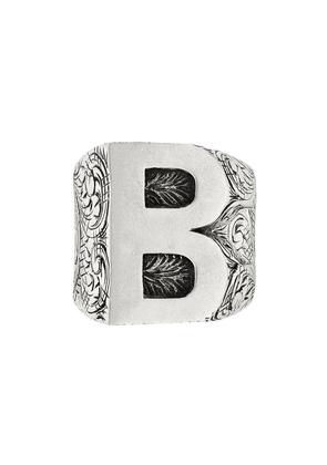 Gucci B letter ring - Silver