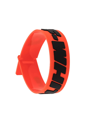 Off-White logo print bracelet - Red