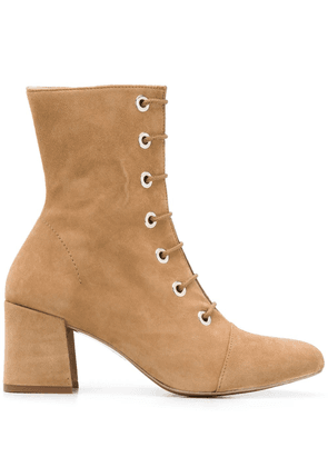Alexa Chung Fach lace-up ankle boots - Brown