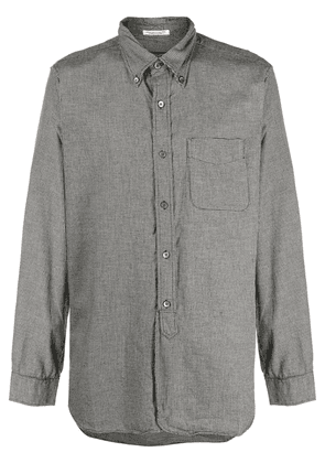 Engineered Garments long sleeved houndstooth shirt - Grey