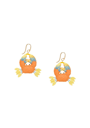 Prada crab pendant earrings - Orange