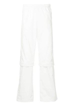 Cottweiler zip-knee track pants - White
