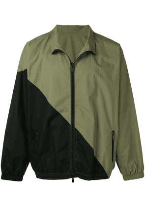 UNRAVEL PROJECT contrast panels lightweight jacket - Green