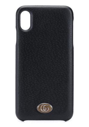 Gucci logo-plaque iPhone XS Max case - Black