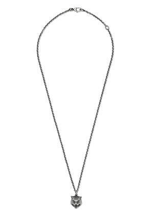 Gucci Necklace in silver with feline head - Metallic