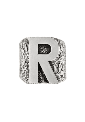 Gucci R letter ring - Silver