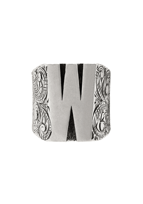 Gucci W letter ring - Silver