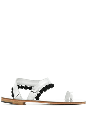 Álvaro pom pom sandals - Metallic