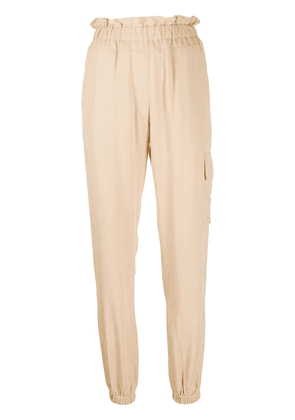 Forte Dei Marmi Couture paperbag tapered trousers - Neutrals
