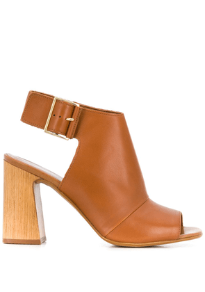Carvela open toe ankle boots - Brown