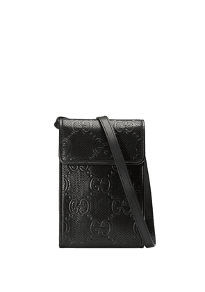 Gucci GG Signature phone holder - Black