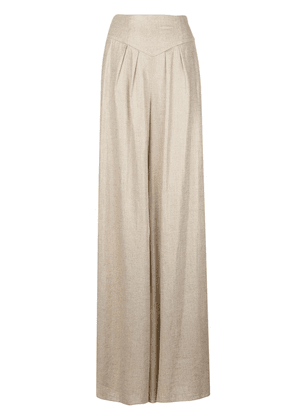 Christian Siriano high-waisted palazzo trousers - Neutrals