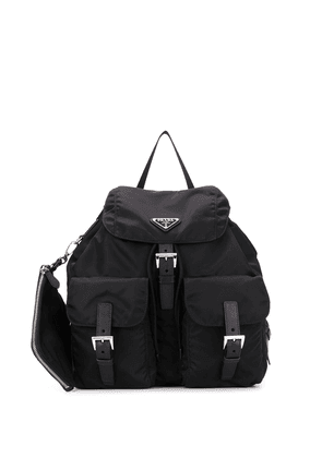 Prada buckled nylon backpack - Black