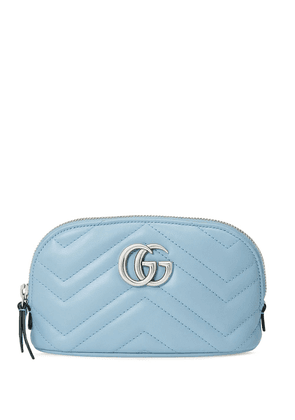 Gucci GG Marmont makeup bag - Blue