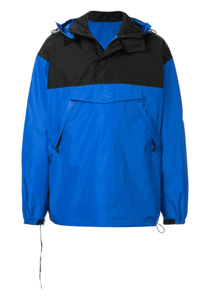 UNRAVEL PROJECT contrast panel hooded windbreaker - Blue