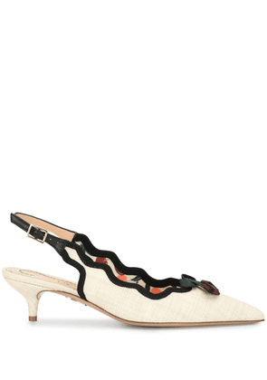 Charlotte Olympia bow-detail 50mm pumps - White