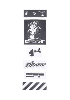 Off-White graphic-print sticker set