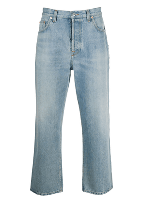 Valentino cropped ankle grazer jeans - Blue