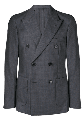 Prada double breasted houndstooth jacket - Grey
