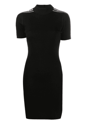Michael Michael Kors logo-detail ribbed knit dress - Black