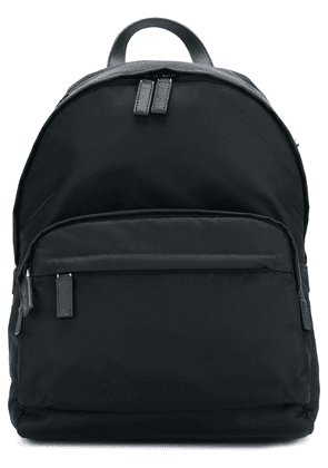 Prada logo patch backpack - Black