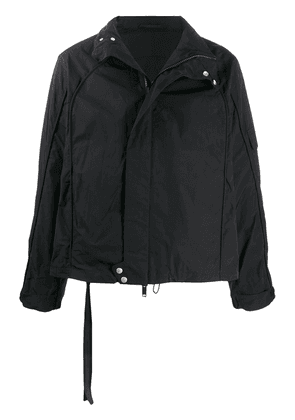 UNRAVEL PROJECT high-neck boxy-fit jacket - Black