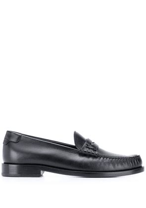 Saint Laurent block heel loafers - Black