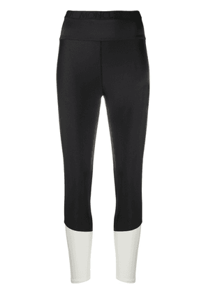 Moncler skinny fit cropped trousers - Black