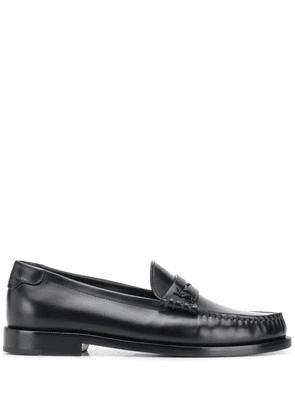 Saint Laurent monogram leather loafers - Black