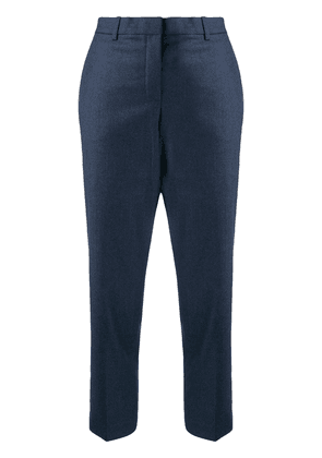 Theory flannel cropped tailored trousers - Blue