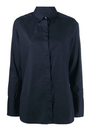 Frenken plain button shirt - Blue