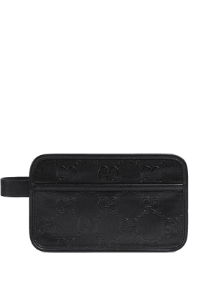 Gucci GG embossed cosmetic case - Black
