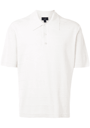 Dunhill striped polo shirt - White