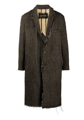 Uma Wang thread detail coat - Brown