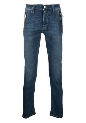 Alexander McQueen skinny fit mid-rise jeans - Blue
