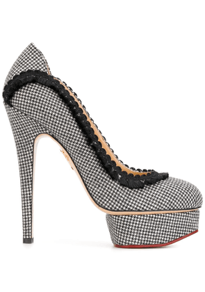 Charlotte Olympia Florence dogtooth pumps - Black
