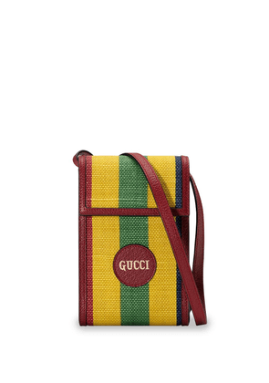 Gucci striped phonecase mini bag - Red