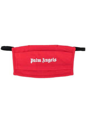 Palm Angels logo print face mask - Red