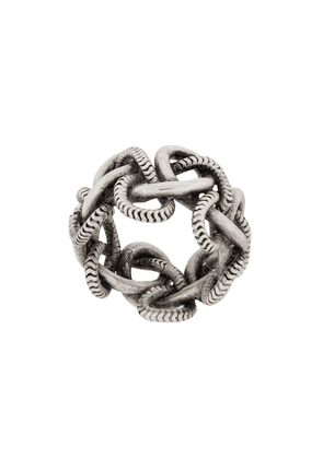 Saint Laurent chain-link ring - SILVER