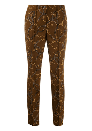 Cambio printed slim fit trousers - Brown