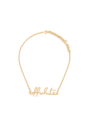 Off-White lettering logo necklace - Gold