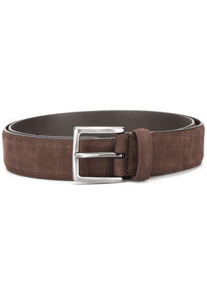 Anderson's crocodile-effect embossed belt - Brown