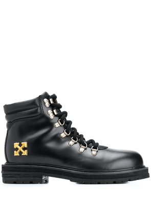 Off-White Arrows appliqué hiking boots - Black