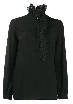 Gucci Square G ruffled collar blouse - Black