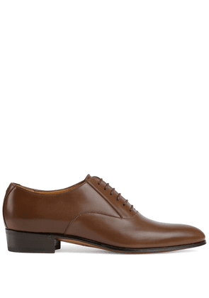Gucci Double G lace-up Oxford shoes - Brown