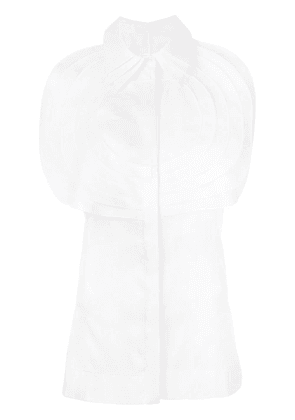 Capucci pleated bib sleeveless shirt - White
