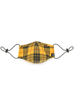 Mostly Heard Rarely Seen check print face mask - Yellow